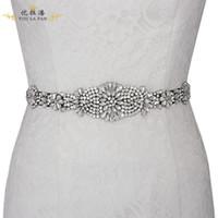 2019 neue Mode exquisite Braut Hochzeit Rhinestone Gürtel Zubehör / Braut Brautkleid Gürtel Schmuck / Shop, um mehr Stilen zu wählen