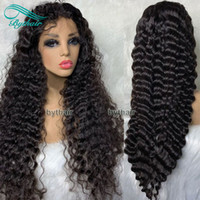 Curly Lace Front Human Hair Wigs Pre Plucked Hairline Virgin...
