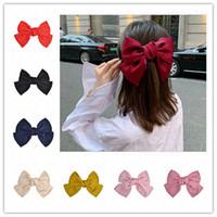IN-netten Mädchen-Big-Haar-Clips Frauen Kinder Hairpin Solid Color Quetschhahn Spangen Mode Headress Kopfbedeckung SALE E4703