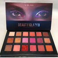 Beauty Glazed Eyeshadow Palette Makeup Makeup 18Colors Waterproof Eye Shadow Shimmer Eyeshadow Matte Long Lasting Eyes Cosmetic