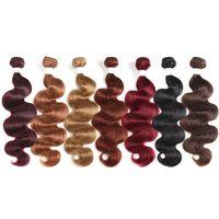 Ombre Bionda Bandetti per capelli umani 10-26 pollici 4 Bundles Set Economici Brasiliani Body Wave Head Hair Natural Remy Remy Extensions