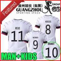 팬 플레이어 버전 2020 2021 축구 유니폼 홈 Reus Kroos 20 21 Kimmich Werner Brandt Kimmich National Team Man Kids Kit 축구 셔츠