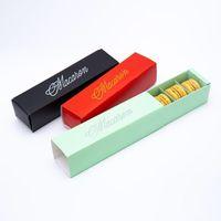 6 colori Macaron matrimonio imballaggio favori caramelle regalo scatole di carta laser 6 griglie Cioccolatini Box / biscotto scatola LX6255