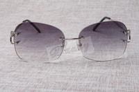 도매-핫 도매 중립 틀 금속 선글라스 4193829 남성 고품질 패션 선글라스 무료 배송 크기 : 62-18-135mm