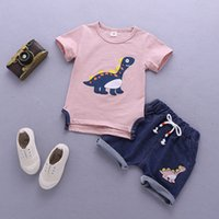 good quality baby boys summer clothing set children T- shirt+...