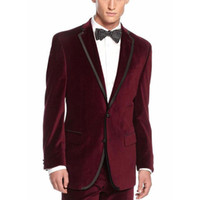 Men Suits for Wedding Velvet Velvet Prom Groom Tuxedos Smoki...