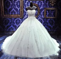 2019 Luxury Beaded Embroidery Bridal Gowns Princess Gown Swe...