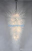 Envío gratuito soplado 110v Bombillas / 120V LED grande dulce chino cúpula de cristal Llight huracán Lámparas