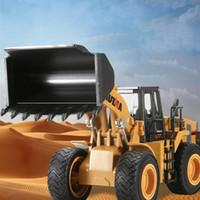 HN Diecast Трактор лопата сплава модель игрушка, колесный погрузчик, 1: 40 большой размер инженерный грузовик, орнамент для Рождественского малыша подарок на День Рождения, сбор 02
