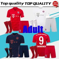 Adulto19 20 Bayern Munich camiseta de fútbol local LEWANDOWSKI MULLER 2019 2020 champions league HUMMELS TOLISSO JAMES men set football s