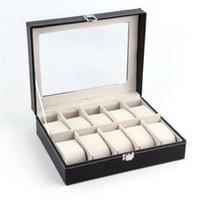 Väska Organizer Watch Case 10 Slot Watch Box PU Läder Watch Organizer Case, för män och kvinnor Alla hjärtans dag gåvor Födelsedaggåvor