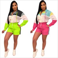 619109a904 New Arrival. Jumpsuits Sports Casual Rompers Patchwork Bodysuit Jumpsuit  Hooded Outdoor Bodysuit Fashion Playsuits Summer Overalls Women ...