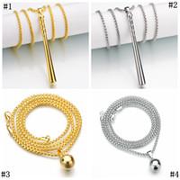 Beyzbol kolye kolye Altın Gümüş Renk Paslanmaz Çelik Beyzbol kolye kolye İçin Kadın Erkek Hiphop kolye eşyalar LJJZ675