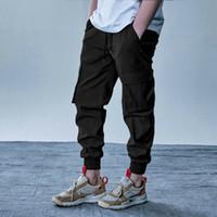 조깅 Crago Sweatpant 실행 긴 남성 전술 카고 바지 캐주얼 스포츠 바지 체육관 슬림 맞춤 바지 신축성있는 허리