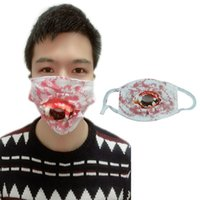 Halloween Horror Scary Mask Mask Denture Rotten Mouth Mask H...