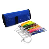 9 inch trolling lures SET of 6 Pusher style Marlin Tuna Mahi...