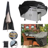 Oxford pano Móveis Waterproof Dustproof Tampa Outdoor Patio Garden Furniture Covers Covers Cadeira churrasco guarda-chuva contra pó