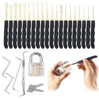 24PCS 자물쇠 도구 GOSO 잠금 설정을 자물쇠 여는 도구 도구를 잠금 해제 자물쇠 자물쇠 선택 도구를 선택 설정 + 1PCS 투명 자물쇠