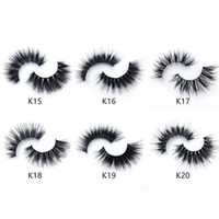 Frettchen Haarwimpern 3D Mink falsche Wimpern Sehr weich Natürliche Wimpernverlängerung 100% Cruelty frei Lashes Wiederverwendbare