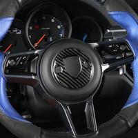 탄소 섬유 스티어링 휠 엠 블 럼 장식 3D 스티커 포르쉐 Macan Panamera 718 새로운 Cayenne 자동차 액세서리에 대 한 자동차 스타일링