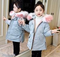 Девушки хлопчатобумажная одежда Новая девушка теплые талии пальто большие дети толстые смокинг пальто