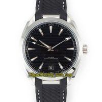 SSS Fábrica Aqua Terra 150m Série 220.12.41.21.01.001 Black Dial 8900 Mecânica Automática Mens Relógios Aço Inoxidável Caso Sport Relógios