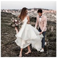 Country Boho Wedding Dresses 2019 Lace Appliques V Neck Wome...