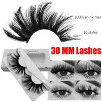 30 ملليمتر 3d المنك جلدة 100٪ ريال المنك الشعر الرموش الصناعية wispy رقيق رموش العين أدوات ماكياج متعدد الطبقات اليدوية الطبيعية طويلة سميكة الرموش