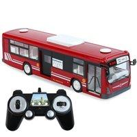 SY 2.4 G RC Bus Model Toy, электрический выключатель передних задних дверей, со звуковыми светодиодными огнями, автомобильный гудок, сигнал поворота, для рождественских подарков на День рождения малыша, 2-2