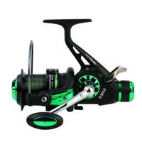 KM50 / 60 Coupe en métal Double frein Enrouleur de pêche Lac carpe Enrouleur de filature