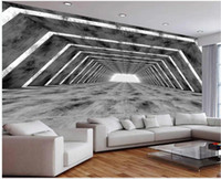 papel pintado moderno de salón estéreo espacio de la pared de fondo extendido edificio de cemento