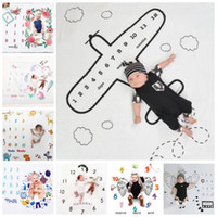 Baby Photography Background Cute Infant Milestone Blanket Ci...