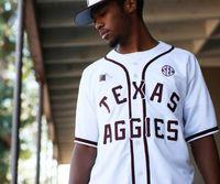 الرجال الرجال العرف الشباب تكساس آم البيسبول تكشف النقاب عن التراث الأحمر الأبيض موحدة أي اسم أي عدد