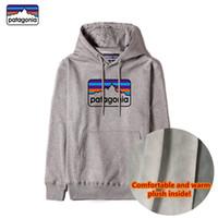 Extra caldo Patagonia spessa maglia con cappuccio 100% cotone top firmati con il logo e le etichette più il maglione di velluto per gli uomini e le donne