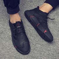 Coreano Primavera versão e verão respirável sapatos masculinos dos homens da tendência sapatos casuais couro coreano sapatos versão dos homens um substituto cabelo