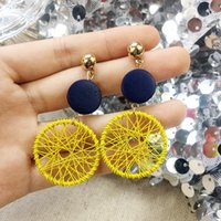 New Arrival Simple Big Round Earrings For Women Fashion Kore...