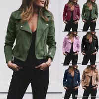 7 컬러 S-5XL 플러스 사이즈 대형 여성 숙녀 가죽 자켓 코트 ZIP 업 바이커 비행 캐주얼 탑 코트 톱니