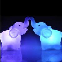 الفيل بقيادة مصباح لون تغيير ضوء الليل للطفل الطفل السرير غرفة نوم الديكور الأطفال هدية لطيف مصباح