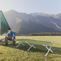 EEUU portátil Militar Cuna plegable cama de camping al aire libre cama el dormir que va de excursión viaje de huéspedes + lleva el bolso