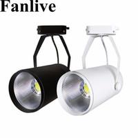 Fanlive 20 adet 15 w 20 w 30 W COB Ray Spot Lamba Leds Mağaza Mağazası Için Takip Armatür Spot Işıkları ampul Sergi