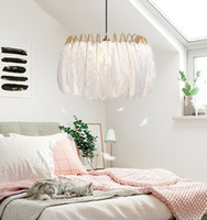 Nordic Feather Chandelier Damsel Heart INS Lamp Pendant lamp...