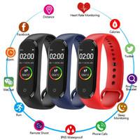 أحدث M4 الذكية الفرقة الأساور اللياقة البدنية تعقب الصحة القلب معدل ضغط الدم مراقب بلوتوث للماء الرياضة سوار ووتش