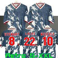1994 الولايات المتحدة الأمريكية الكلاسيكية بعيدا قميص الرجعية لكرة القدم الفانيلة weglearle lalas ramos balboa 94 قمصان كرة القدم الكلاسيكية