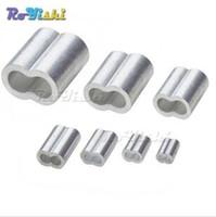 100pcs / lot 1.2 ~ 8.0mm Câble En Aluminium Double Ferrule Câble En Fil De Fil De Barrage