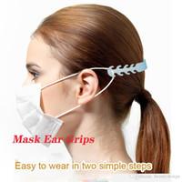 24h Prêt gratuit DHL navire Masque réglable Anti Slip oreille Poignées Masque visage oreille Hooks masque confortable confortable oreille réglable Extension Bracelet