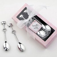 1 Pair Love Coffee Drinking Stainless Steel Spoon Teaspoon B...