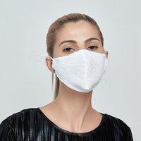 Glitter máscara com filtro PM2.5 máscara Primavera Verão máscaras de pano à prova de poeira adulto lavável mascarar macio FFA4237-9 cobertura boca respirável