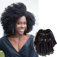 펀미 곱슬 브라질 인간의 머리는 섹시 헤어 확장 최고의 가격 아프리카 곱슬 자연 검은 인도 레미 인간의 머리 더블 씨실 변태 직조