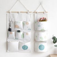 Bag Yellow Plaid Hanging Storage Organizers For Home Wardrob...