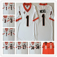 a03480f74 New Arrival. NCAA Georgia Bulldogs Men's college Jerseys 11 Jake Fromm 27  Nick Chubb 7 DAndre Swift 3 Roquan Smith good quality football jersey
